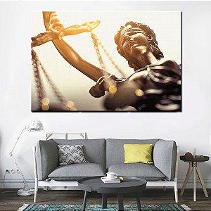 Quadro Tela Decorativa Deusa da Justiça Advogado Advocacia