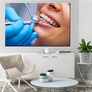 Quadro Tela Decorativa Sorriso Dental Dentista