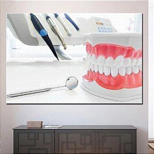 Quadro Tela Decorativa Consultorio Dental