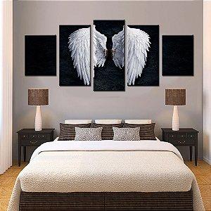 Quadro 5 Quadros  Asas Anjo Espiritual