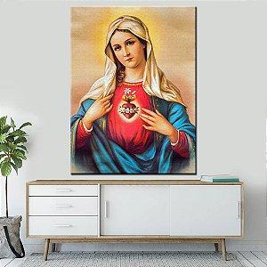 Quadro Tela Decorativa Sagrado Coração de Maria