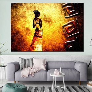Quadro Tela Decorativa Africa Arte