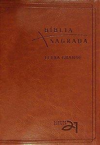 Bíblia Almeida Século 21 Couro Letra Grande Luxo