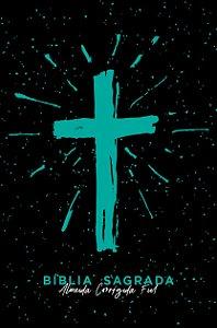 Bíblia ACF SLIM Cruz Tiffany Letra Normal