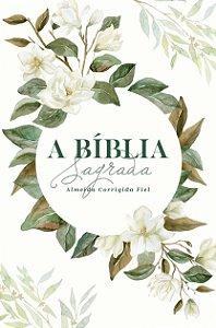 Bíblia ACF SLIM Magnólia Branca Letra Normal