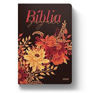 Bíblia NVI Luxo Slim - Buquê de Flores - Letra Grande