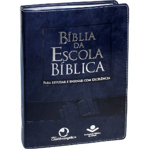Bíblia Da Escola Bíblica Almeida Revista e Atualizada Azul