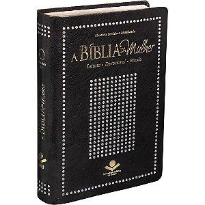 Bíblia Da Mulher Almeida Revista E Atualizada Capa Com Detalhes De Brilho Elegante
