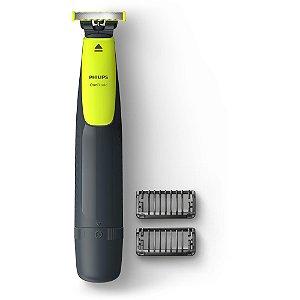 Aparador de Pêlos Bivolt OneBlade QP2510/10 Cinza/Verde Philips