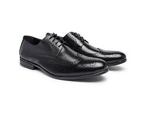 Sapato Social Masculino Oxford Youth Couro Preto 612
