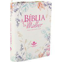 A Bíblia da Mulher com índice e zíper Capa florida  (ARA)