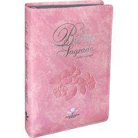 Bíblia Sagrada Letra Gigante Capa Couro Rosa nobre (ARA)