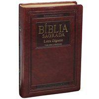 Bíblia Sagrada Letra Gigante com índice Capa Cour Marrom ARA