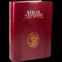 Bíblia de Estudo John Wesley Capa couro vinho (NAA)