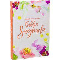 Bíblia Sagrada Letra Grande Floral Nova Almeida Atualizada