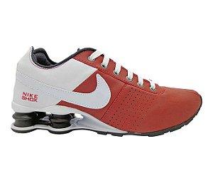 f9ef0489e6 Tênis Nike Shox Deliver Vermelho e Branco