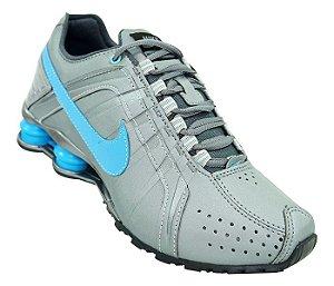 20d1478e54 Tênis Nike Shox Junior Cinza e Azul