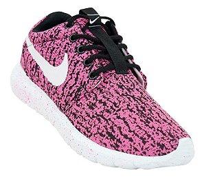351611c647 Tênis Feminino Nike Roshe One Rajado Rosa