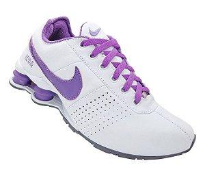 0d2c36b371 Tênis Nike Shox Deliver Branco Laranja e Azul Marinho - Import Vip