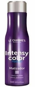 Intensy Color Platinum Roxo - Matizador Efeito Platinado Lé Charme's - 500ml