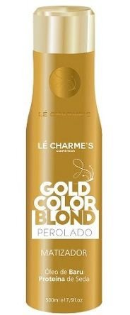 Intensy Gold Color Blond Platinado - Matizador Efeito Perolado Lé Charme's - 500ml
