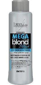 Mega Blond Black Máscara Matizadora Efeito Cinza Platinado Forever Liss - 500ml
