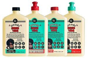 Kit Meu Cacho Minha Vida Lola Cosmetics - Shampoo + Condicionador + Creme de Pentear + Jelly Gel (4 Produtos)