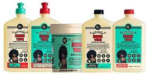 Kit Meu Cacho Minha Vida Completo Lola Cosmetics - Shampoo + Condicionador + Creme de Pentear + Jelly Gel + Máscara (5 Produtos)