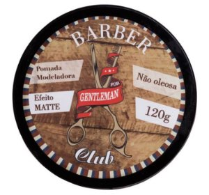 Barber Club Pomada Capilar Modeladora Efeito Matte Lattans - 120g