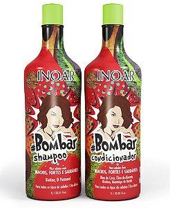 Inoar Bombar Kit Shampoo 1000ml + Condicionador 1000ml (2 Produtos)