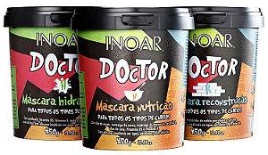 Inoar Doctor Tripla Ação Kit 3 Produtos (Hidratação + Nutrição + Reconstrução)