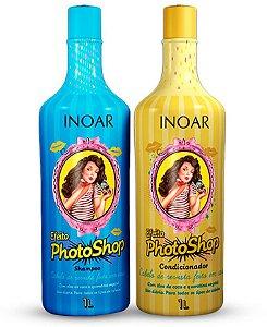 Inoar Efeito Photoshop Kit Shampoo + Condicionador - 1 Litro Cada (2 Produtos)