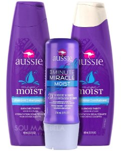Aussie - Kit Mega Moist Miracle (Shampoo + Condicionador + 3 Minute) - 3 Produtos