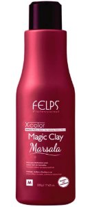 Felps Magic Clay Marsala Xcolor Máscara Matizadora Red - 500g