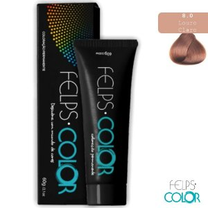 Felps Color Coloração Permanente Louro Claro 8.0 – 60g