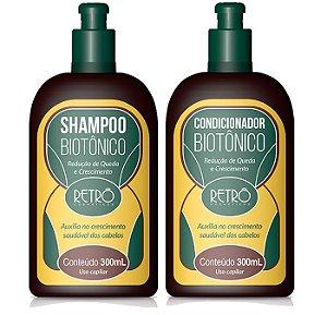 Retrô Biotônico Kit de Crescimento Capilar (Shampoo 300ml + Condicionador 300ml) - 2 Produtos