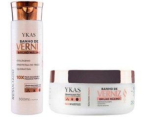 Ykas Banho de Verniz Kit de Tratamento Brilho Máximo (Shampoo 300ml + Máscara 250g)
