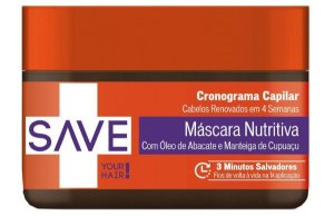 Yenzah Save Your Hair Cronograma Capilar Máscara Nutritiva - 300g