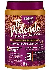To Podendo Máscara de Hidro-Nutrição Estrutural Concentrada Nível 3 Salon Line - 1kg