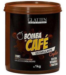 Glatten Bomba de Café - Máscara Estimulante Capilar 2 em 1 - 1kg