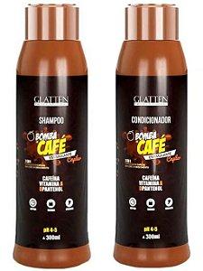 Glatten Bomba de Café Kit Shampoo + Condicionador (2 Produtos) - 2x300ml