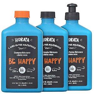 Kit Lola Be Happy Cabelos Secos - Shampoo + Condicionador + Creme de Pentear (3 Produtos)