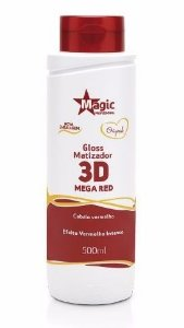 Magic Color Gloss Matizador 3D Para Cabelos Ruivos - Mega Red - 500ml