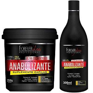 Kit Anabolizante Forever Liss: Creme de Hidratação e Fortificação 240g + Shampoo Ultra Concentrado 300ml