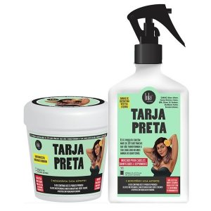 Kit Tarja Preta Queratina Vegetal Lola - Máscara Restauradora + Spray (230g + 250ml)