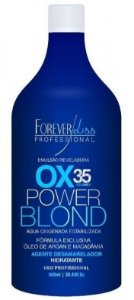 Power Blond Água Oxigenada OX Matizadora 35 Volumes Azul Forever Liss - 900ml