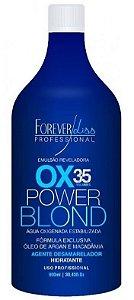Power Blond Água Oxigenada OX Matizadora 35 Volumes Azul Forever Liss - 900ml
