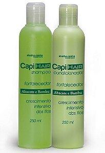 Kit Capi Hair Abacate e Bambu - Crescimento Intensivo dos Fios - Shampoo + Condicionador (2 Produtos)