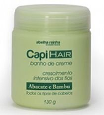 Capi Hair Banho de Creme Crescimento Intensivo dos Fios - Abacate e Bambu - 130g