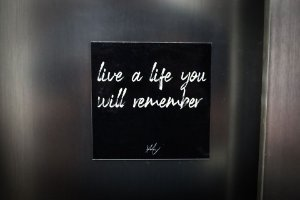 live a life you will remember (imã)